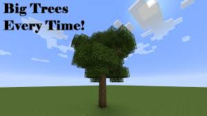 minecraft how to make a big oak tree 100 of the time