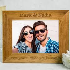 5th wedding anniversary ideas wood 5th wedding anniversary gifts gettingpersonal co uk