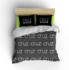 personalized name duvet cover light multiple color options