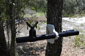 aughog com pistol and rifle rest mounted to a tree this will also