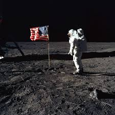 Backwards Us Flag 11 Buzz Aldrin And The U S Flag On The Moon