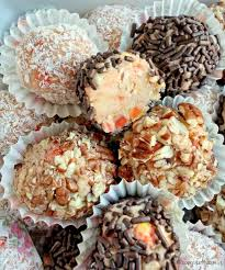 corn truffles cookies and truffles with corn