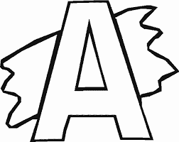alphabet coloring pages printable alphabet coloring pages printable a with splash alphabet