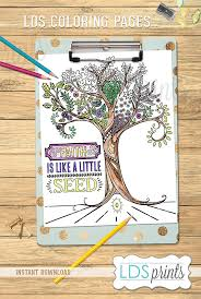 ldscb023 lds coloring pages faith is like a little
