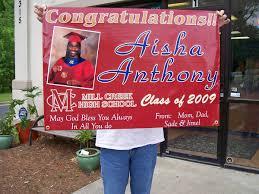 graduation vinyl graduation banners neighborhood banner signs personalized