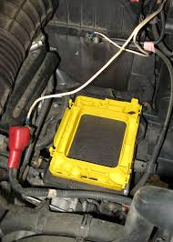 acid yellow jeep optima yellow top battery installation truck trend