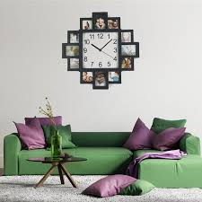 new diy wall clock modern design home decor photo frame clock