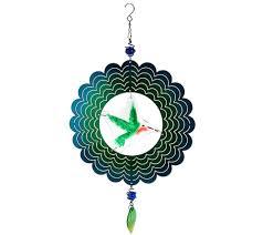 glass u0026 stainless steel hanging garden wind spinner by evergreen