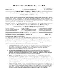 Resume Samples Security Guard by Director Of Security Resume Examples Resume For Your Job Application