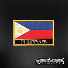 Philippines Flag Patch Philippines Flag U0026 Name U2013 Ssu