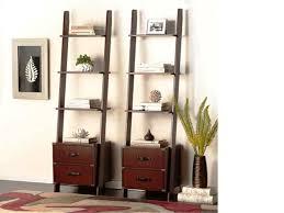 5 Shelf Bookcase Espresso Interior Leaning Ladder Shelves Leaning Wall Shelves Ladder