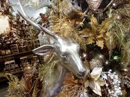 Deer Christmas Tree Decor by Silver U0026 Gold 2015 Christmas Tree Christmas Place Blog