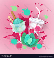 cocktail logo fresh ice cream with cocktail logo sweet beautiful