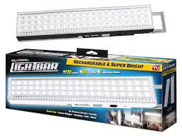 as seen on tv portable light light bar by bell howell 60 led 16 5 rechargeable portable