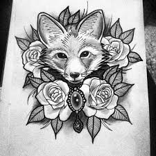 303 best tattoos foxes images on fox tattoos