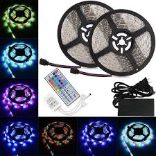rgb led strip lighting amazon com ltrop 2 reels 12v 32 8ft waterproof flexible led strip