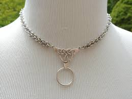 stainless steel collar necklace images 24 7 wear discreet symbolic o ring day collar necklace celtic jpg