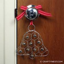 chicken wire jingle bell ornament crafty nest