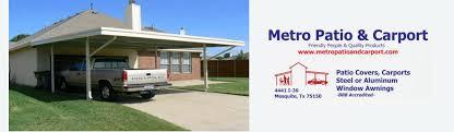 Carports And Awnings Home Metro Patio U0026 Carport Inc Mesquite Texas