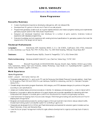 Resume Samples Java by Game Designer Resume Template Sainde Org