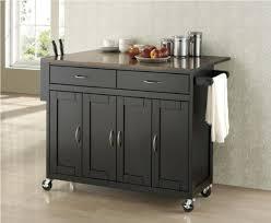 modern kitchen island cart marble top kitchen island cart black color
