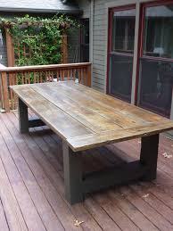How To Build A Wood Patio by Diy Outdoor Dining Tables Tables Outdoor Dining Tables And Outdoor