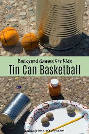 Backyard Games Kids by Backyard Games For Kids Tin Can Basketball Green Kid Crafts