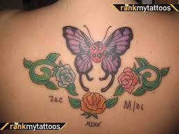 ladybug butterfly on back tattooshunter com