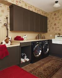 cozy cave dog bed laundry room traditional with dog bed dog