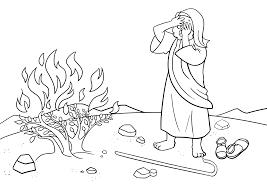 moses burning bush coloring page moses about to divide red sea