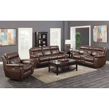 Power Reclining Sofa Set Brown Leather Sofas Sectionals Costco