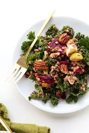 kale salad for thanksgiving kale salad with beets and lentils minimalist baker recipes