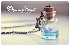glass bottle necklace pendants images Paper boat bottle necklace origami boat pendant ocean necklace jpeg