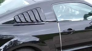 mustang louver how to add install quarter window mmd louvers on ford mustang car