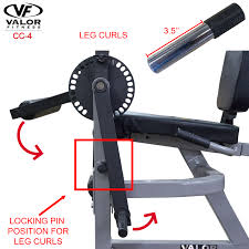 valor fitness cc 4 adjustable leg curl machine walmart com