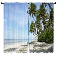 palm tree custom size window curtains