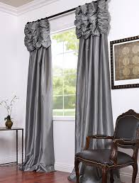 Short Curtains For Living Room by Platinum Embroidered Ruched Faux Silk Taffeta Curtains Window