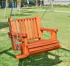 Hanging Swing Chair Outdoor by Image 1 Hanging Wooden Bench Outdoor Swing Back Lattices Are
