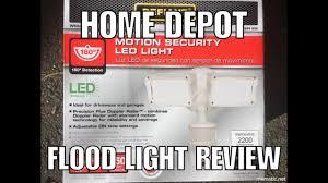 Defiant Degree Outdoor White Led Blade Motion Security Light - home depot defiant led flood light review youtube