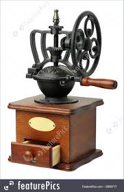 Old Fashioned Coffee Grinder Antiques And Rarity Antique Coffee Mill Isolated Stock Picture