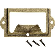 amazon com antique brass card holder with pull business card