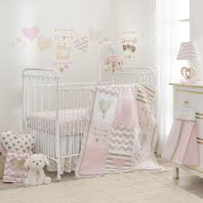 Crib Bedding Sets Lambs R Baby Pink Gold 4 Crib Bedding Set
