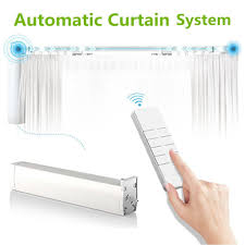 Automatic Blind Opener And Closer by Amazon Com Automatic Curtain System Electric Remote Controlled