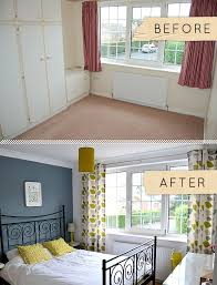 bedroom before and after before after a yorkshire bedroom goes from beige to beautiful
