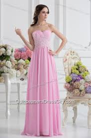 light pink dama dresses empire sweetheart appliques dama dresses in baby pink 153 69