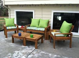 Outdoor Wooden Patio Furniture Simple Outdoor Conversation Set Do It Yourself Home Projects