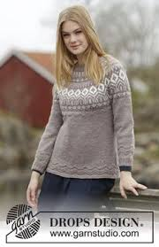 s sweater patterns silver stag knitted drops jumper with yoke reindeer