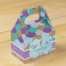 personalized favor boxes mermaid birthday party personalized favor box zazzle