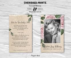 prayer cards for funerals vintage purple roses prayer card memorial card funeral card