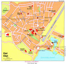 Port Of Spain Map by Maps Of Eilat Eilat Israel And Tour Guide